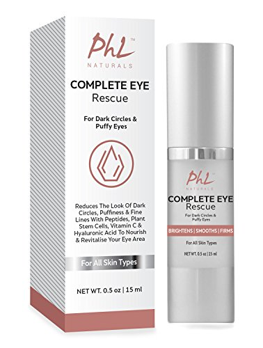 Dark Circles Under Eye Treatment- Tackles Puffiness, Wrinkles and Bags - Natural Organic Eye Brightening Gel for Under and Around Eyes, suits Men & Women, 0.5 fl. ounce.