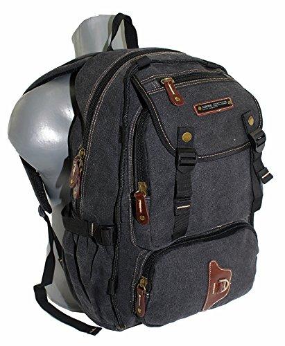 Mochila, plástico: Canvas, mochila de deporte, senderismo, bicicleta Mochila, Exterior Mochila, trabajo, ocio, deportes, escuela negro