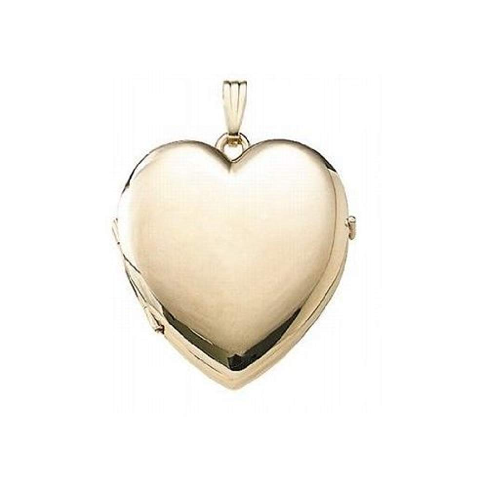 PicturesOnGold.com Solid 14K Gold Heart Four Photo Locket - 1-1/4 Inch X 1-1/4 Inch Solid 14K Yellow Gold