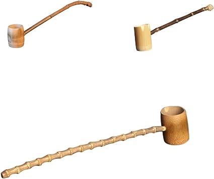 Sharplace Louche dEau en Bambou Soupe Cuill/ère Japonais Th/é Traditionnel Suana Maison Cuisine 20x0.7cm