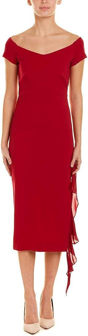 B07FVZYY6Q Nicole Miller Women's Structured Heavy Jersey Off Shoulder Dress 51LKoypxnuL.UL1080_