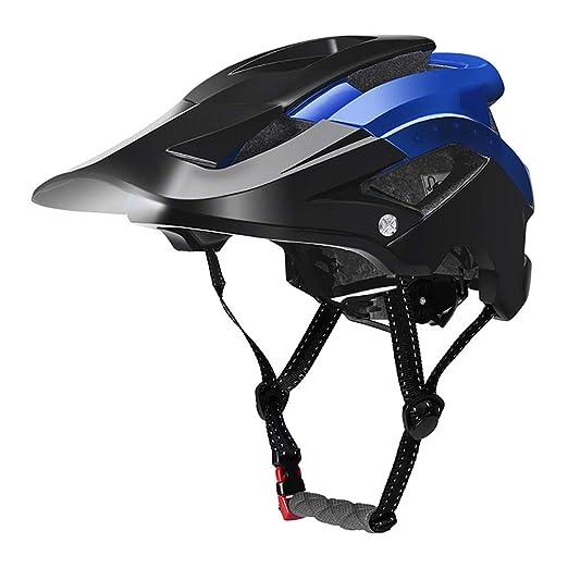 YAJAN-helmet Casco Bicicleta con luz, Seguridad Casco Ciclo ...