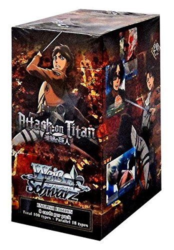 Attack On Titan! Weiss Schwarz ENGLISH EDITION Weiss Weib Booster Box - 20 packs / 8 cards by Weiss Schwarz by Bushiroad
