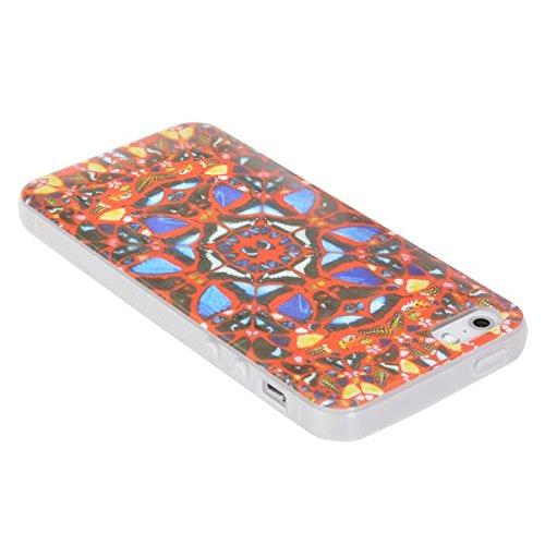 Mobile Shell Motif papillon Cover Case TPU pour l'iPhone 5 5S
