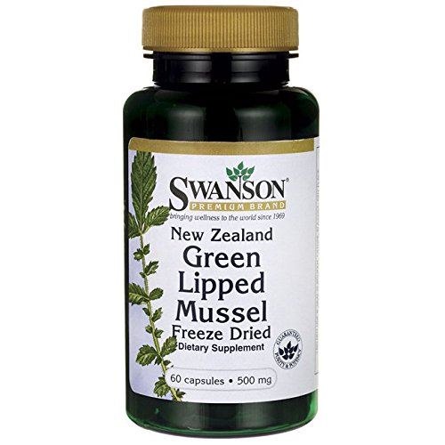 Swanson New Zealand Green Lipped Mussel, Freeze Dried 500 mg 60 Caps