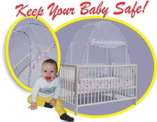 Best Baby Crib Safety Net Tent – Tried and Tested – Safe and Secure – Proven to Keep Your Baby Safe from Climbing Out. Finest Quality Original Australian Design Pop Up Crib Canopy Cover Easy Assembly
