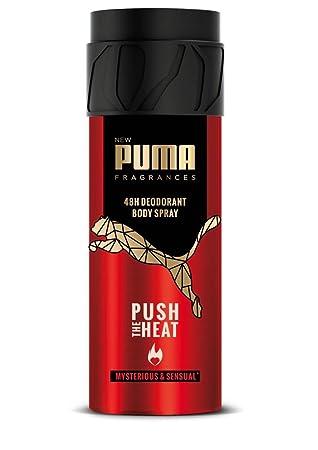 Exklusive Angebote abgeholt niedriger Preis Puma Fragrances Déodorant Homme Body Spray 48h Push the Heat ...