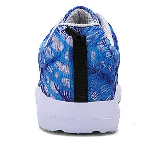 ECOTISH Unisex Fashion Camouflage Mesh Schuhe Casual Flat Sneaker Leichte Walking Athletic Schuh Breathable Laufschuhe (Tag Size 43 - UK Size 8.5, Blau)