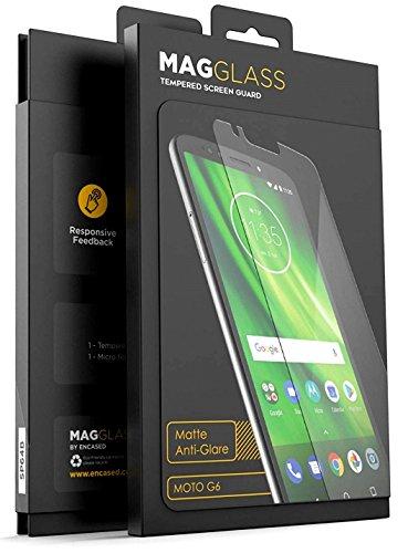 - MagGlass Tempered Glass Screen Protector Moto G6 - Anti Glare (Matte XM90) Scratch/Fingerprint Resistant Screen Guard (Case Friendly Design)