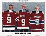 The Three Great Nines - Maurice Richard, Gordie Howe and Bobby Hull