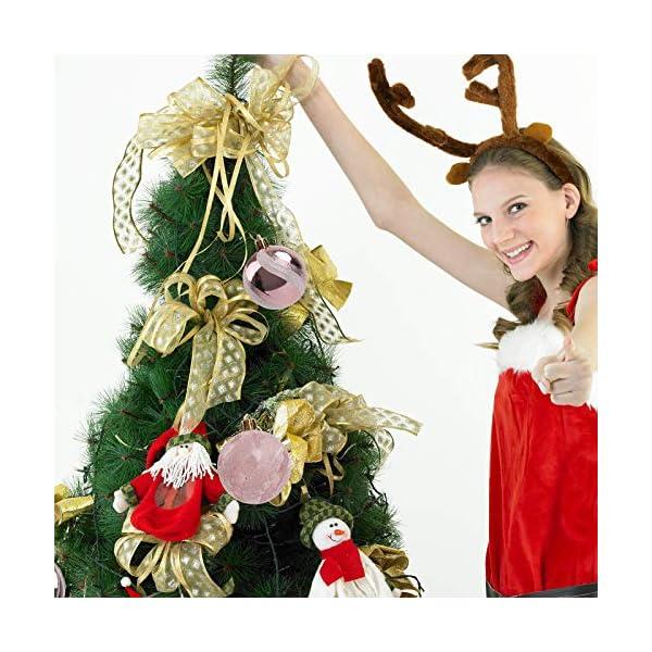 Pveath - Palline decorative, multicolore, infrangibili, per feste di matrimonio e Natale, 6 cm, 24 pezzi Oro rosato 6 spesavip
