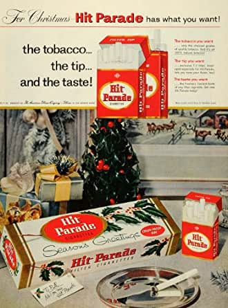 1957 Ad Hit Parade American Tobacco Co Cigarettes T-7 Filter Crush Proof Box - Original Print Ad