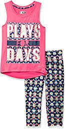 RBX Big Girls\' 2pc Set Active Top/Capri, Neon Ko Pink, M(10/12)