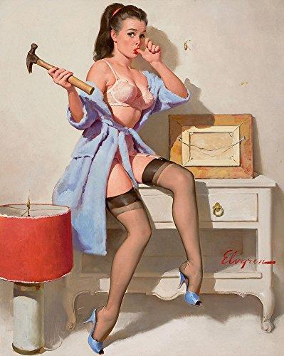 Berkin Arts Gil Elvgren Giclee Canvas Print Paintings Poster Reproduction(Pin Up Girls (Gil Elvgren Pin Up Girls)