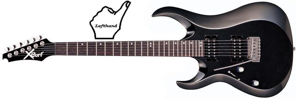 Cort X-2LH BK - Guitarra eléctrica (madera, para zurdos): Amazon ...