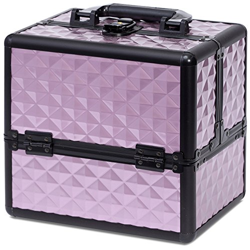 Joligrace Makeup Cosmetic Train Case - Aluminum Storage Orga