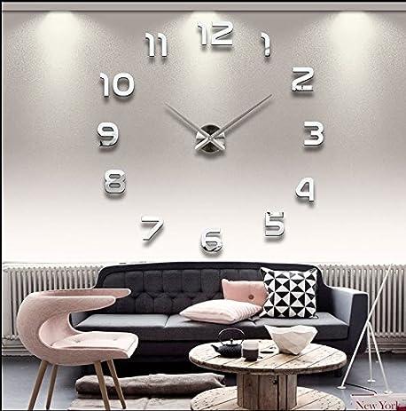 Amazoncom DIY Wall Clock Fashion Modern Large 3D Clock Acrylic Big