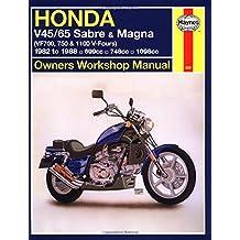 Honda V45/65 Sabre and Magna Owners Workshop Manual: (VF700, 750 & 1100 V-Fours) 1982 to 1988