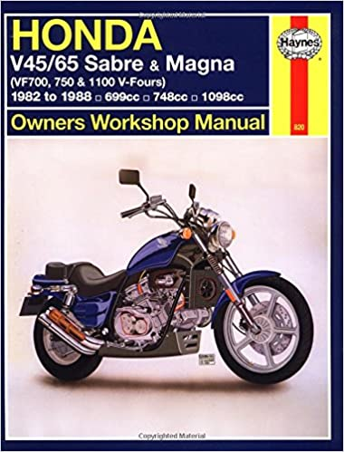 honda v45 65 sabre magna vf700m 750 1100 v fours 1982 to honda v45 65 sabre magna vf700m 750 1100 v fours 1982 to 1988 owners workshop manual haynes repair manuals john haynes 9781563921049