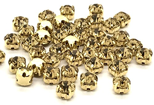 on Casing Glue Casing on Crystals Sew Glass 100 Cut Light Rhinestones Gold in Low Gold Silver Quality Premium Price x amp; EIMASS Gold 8RzqFRfw