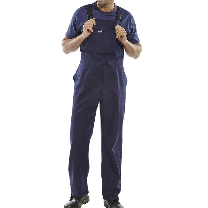 1e1e87a49ef Mono de Trabajo de Color Blanco o Azul Oscuro algodón para Hombre para  Pintor Overol Peto