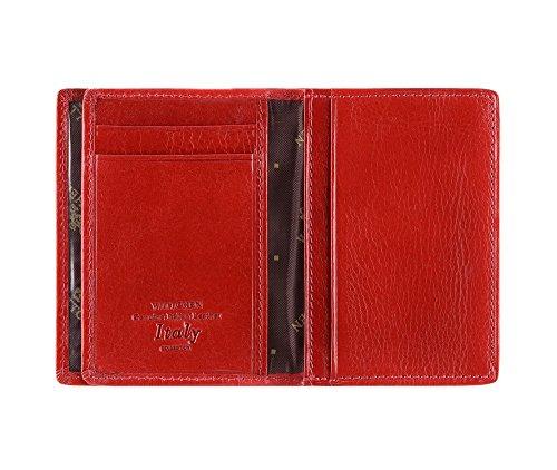 WITTCHEN caso, Rosso, Dimensione: 10.5x7 cm - Materiale: Pelle di grano - 21-2-260-3