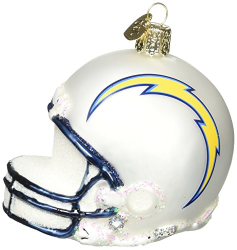 Old World Christmas Glass Blow Christmas Ornament San Diego Chargers Helmet