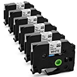 Itari P-Touch Label Tape, Replacement for Brother Tze 231 Tape 12mm 0.47 Laminated Black on White, Compatible with Brother P-Touch PT-D210, PTH110, PT-1880 Label Maker and More, 26.2 ft (8m), 6-Pack