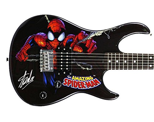 Stan Lee Signed Peavey Rockmaster Marvel Spiderman Guitar W/ Stan Lee Holo & - PSA/DNA Certified