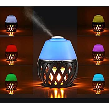 Sumaote LED Flame Lamp Aroma Diffuser, Torch Atmosphere