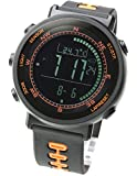 [Lad Weather] Watch Swiss Sensor Electronic Compass/ Altimeter/ Barometer/ Thermometer/ Weather Forecast/ Pacemaker/ Function / Limited Model/ 5Colors/ Pacemaker/ Black/ Orange (Japan Import)