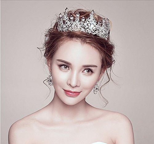 Quantity 1x Crown Tiara Party Wedding Headband Women Bridal Princess Birthday Girl Gift earrings Rhinestone _dance_roman_ baby _?_circle_ stars new_arena_?_departure
