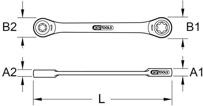 SAE Ring-Maulschl/üssel-Set mit Tasche GEARDRIVE 13-teiliges Flexkopf-Ratschenschl/üssel-Set