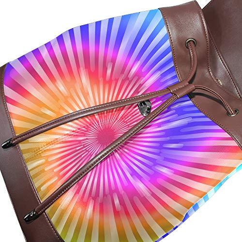 Dragonswordlinsu Mochila Multicolor Para Única Mujer Talla De Bolso Piel 1rxw6q5Z1O