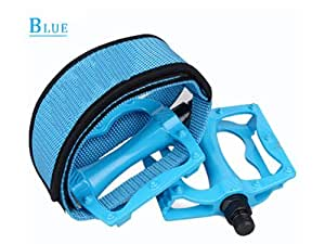 (Color:Blue) Fixed Gear Bike Bicycle Pedal Foot Strap Binding Band