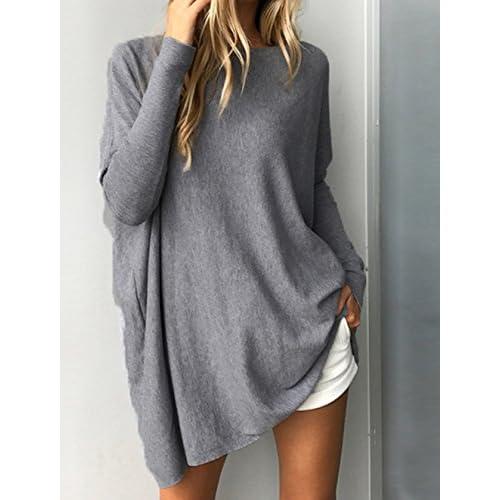 abda065b2c4ba durable modeling Mujer Jersey Sudaderas Primavera Otoño Suelto Suéter Bat  Manga Larga Casual ...