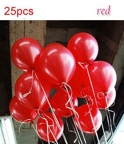 (Viet JK Wedding Decorations - 25pcs/lot 1.5g Pink Latex Balloons 10inches Inflatable Wedding Decorations for Baby Shower Air Ball Happy Birthday Party Ballons)