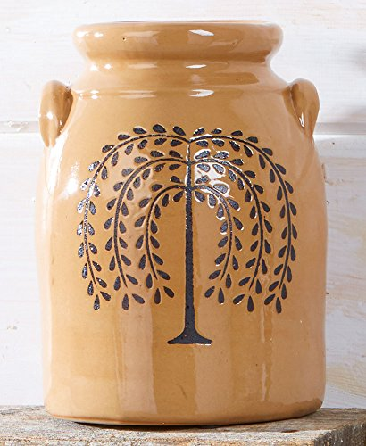 The Lakeside Collection Primitive Willow Tree Country Crock