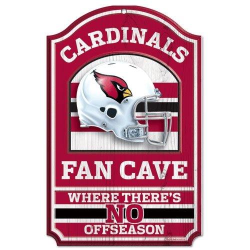 11' Wood Sign - Arizona Cardinals Wood Sign - 11''x17'' Fan Cave Design