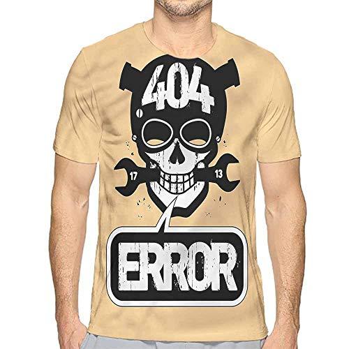 - Jinguizi Mens t Shirt Skull,Computer Error Screen Theme HD Print t Shirt S