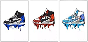 Home Decor Sneaker Michael Fashion 3 Piece AJ Shoes Air Jordan Painting Modular Pictures Prints Canvas Poster Nordic Style Wall Art For Living Room No Frame