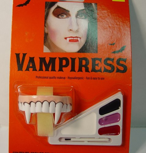 Vampiress Hypoallergenic Makeup and Fangs (Vampiress Makeup)