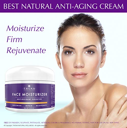 51LKvaRv0CL - Anti Aging Face Moisturizer Cream For Dry Sensitive Skin, Organic Natural Facial Cream Anti Wrinkle Hyaluronic Acid Retinol Vitamin C, Face Lotion Eye & Face Care Skin Care Products Women Men