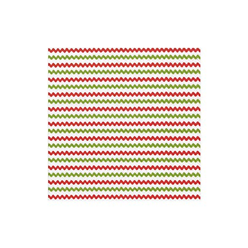 (Cocktail Napkins Green and Red Paper Napkins Christmas Party Napkins Holiday Party Country Rustic Christmas Decor Ric Rac 5