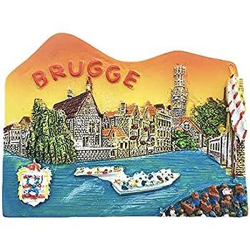 Amazon.com: Wedare Belgium - Imán para nevera, diseño de ...