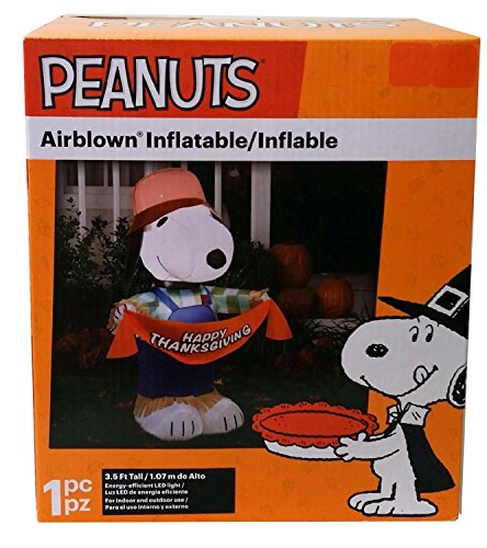 Gemmy Inflatables Holiday G08 70445 Air Blown Snoopy As Scarecrow Peanuts Decor