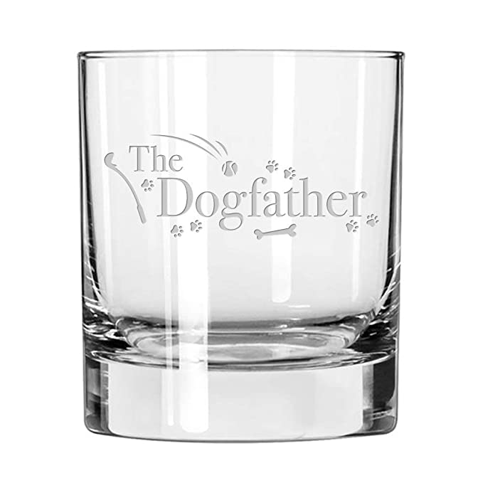 Dog Lover Gifts - The Dogfather - Whiskey Glass For Dog Dads