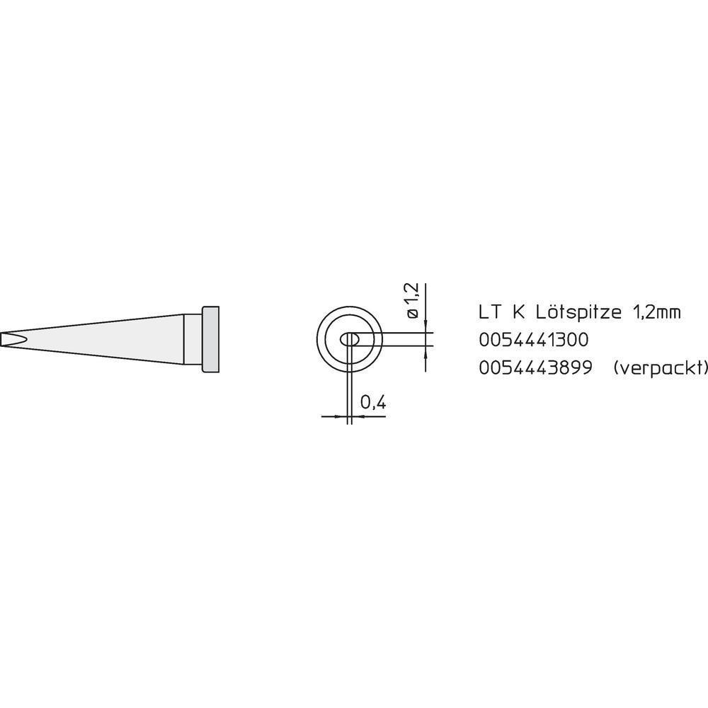 Panne de fer à souder Weller LT-K Weller Professional T0054443899 371220
