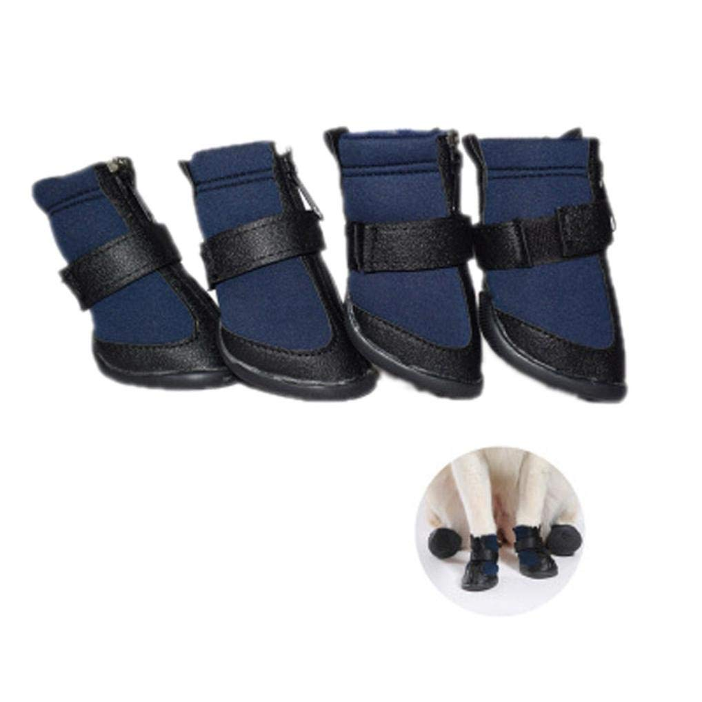 Alalaso Waterproof Pet Shoes Anti Skid Dog Winter Boots For Small Medium Large Pet Dogs (XL, Blue)