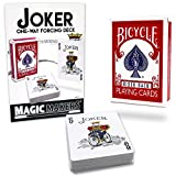 Magic Makers Joker - One Way Forcing Red Bicycle Deck